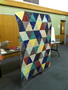 Ara Jane's triangle quilt