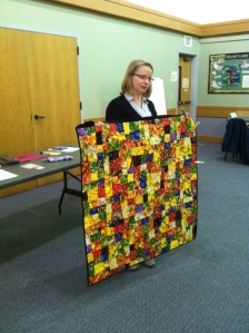 Amber's wonky nine patch quilt