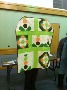 A quilt by Emily from her new book: Color, Block, & Quilt