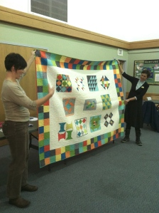 The SMQG charity quilt for QuiltCon.