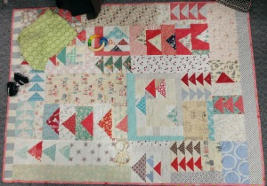 Miss Solveig's Quilt made by Seattle MQG members