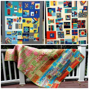 pictures of SMQG's first 3 Giving Quilts