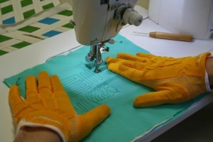 Matt's free motion quilting hands