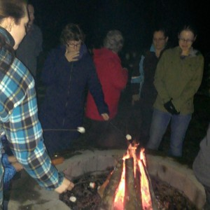 What is quilt camp with a campfire and s'mores? And a quilty shanty....