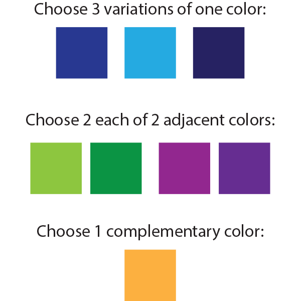 Color selection swatches